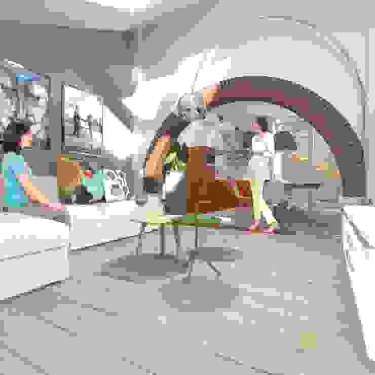 wonen in de ijzergieterij Industriële woonkamers van architectenburo frans van roy Industrieel