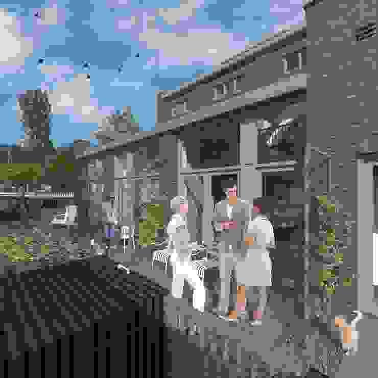 wonen in de ijzergieterij Industriële balkons, veranda's en terrassen van architectenburo frans van roy Industrieel