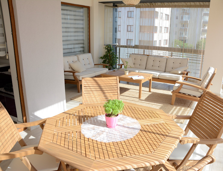 Özel Konut Tasarımı Modern Balkon, Veranda & Teras Deco Mimarlik Modern