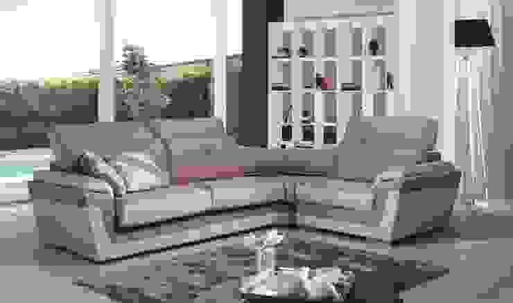 Sofás de canto Corner sofas www.intense-mobiliario.com Dakar http://intense-mobiliario.com/product.php?id_product=6790 por Intense mobiliário e interiores; Moderno Pele Cinzento