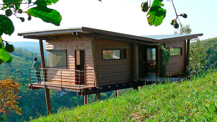 Houses by Cabana Arquitetos, Rustic Wood Wood effect
