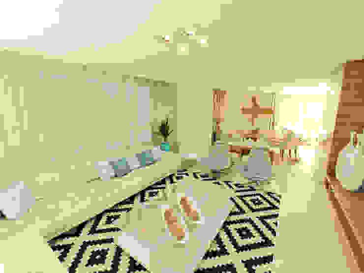 Apartamento Beira Mar Balneário Camboriú Salas de estar modernas por Cas Arquitetos Associados Moderno