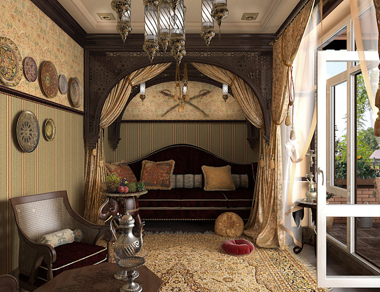 Обложка профиля Медиа комната в азиатском стиле от Ирина Борода Азиатский