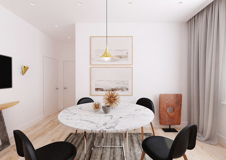 Обложка Столовая комната в стиле минимализм от kesproject Минимализм
