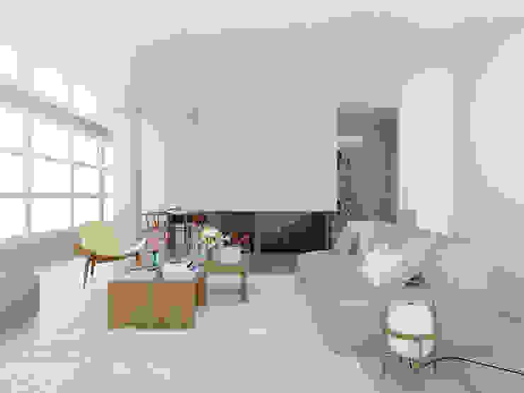 ESTUDIO BAO ARQUITECTURA Scandinavian style living room