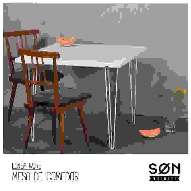 Mesa comedor Wire de SØN Muebles Minimalista