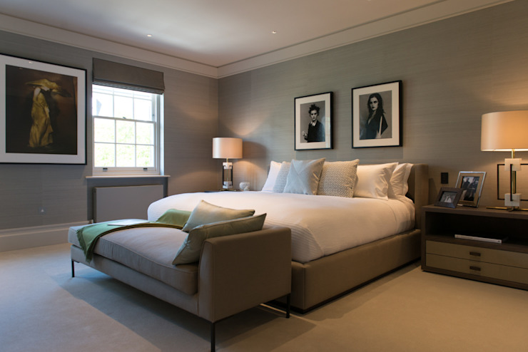 ​Bedroom at Bedford Gardens house. Dormitorios de estilo moderno de Nash Baker Architects Ltd Moderno