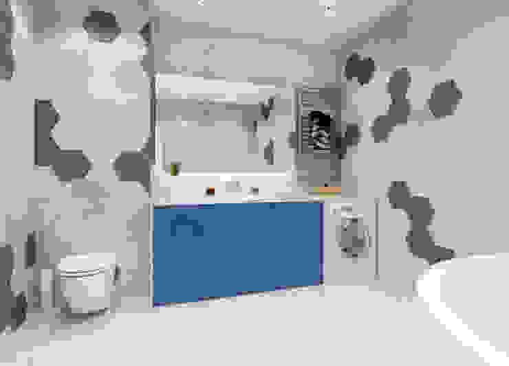 ЖК Мишино, квартира для молодой девушки Ванная комната в стиле минимализм от Лето Дизайн Минимализм