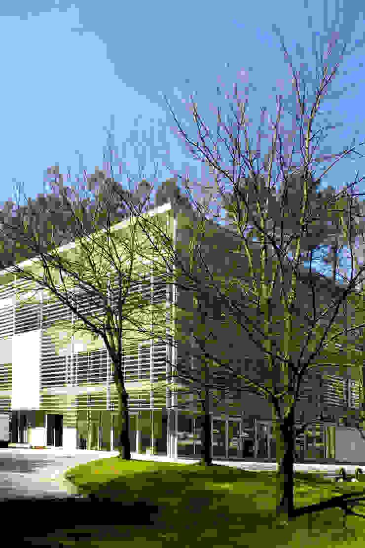 Exterior Casas modernas por MANUEL CORREIA FERNANDES, ARQUITECTO E ASSOCIADOS Moderno