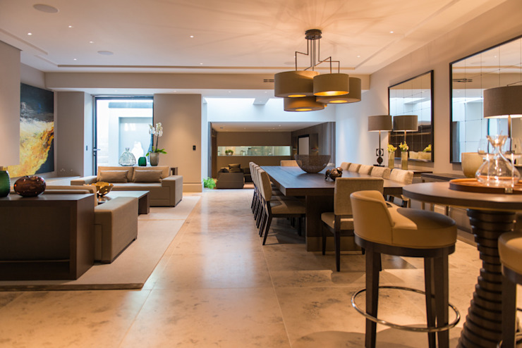Dining Room and sitting area at Bedford Gardens House. โดย Nash Baker Architects Ltd โมเดิร์น