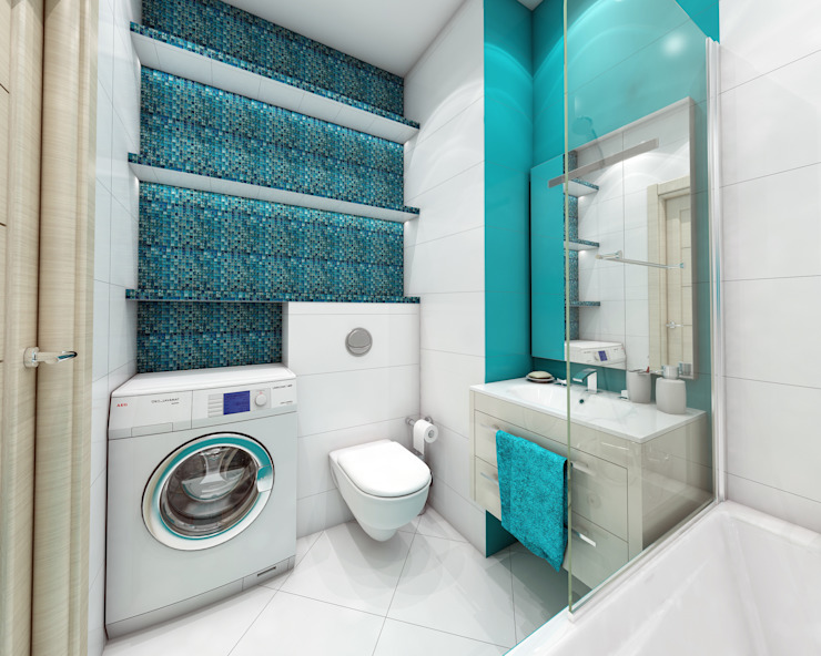 Baños minimalistas de Лето Дизайн Minimalista