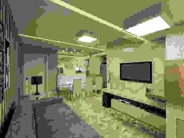 Apartamento Itoupava Norte Blumenau Salas de estar modernas por Cas Arquitetos Associados Moderno
