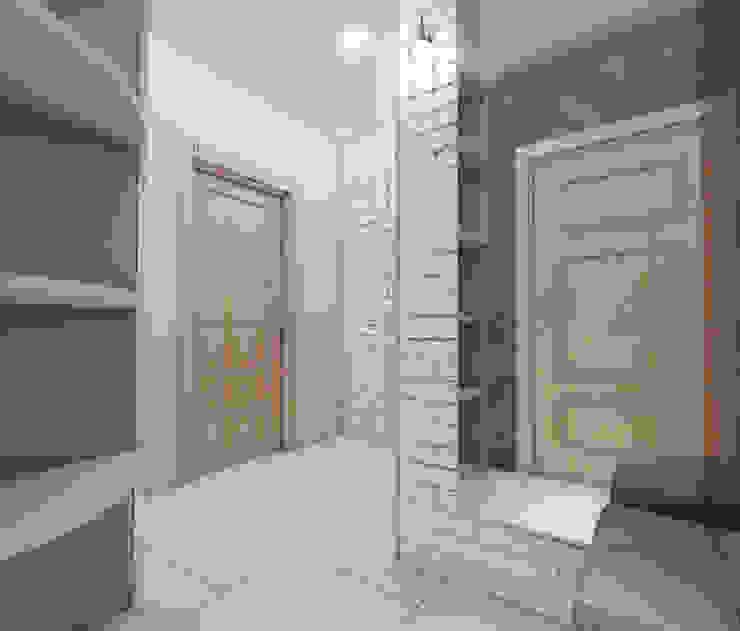 Лето Дизайн Couloir, entrée, escaliers minimalistes Gris
