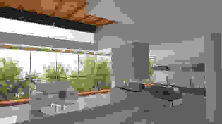 Casa Hernandez Salas de estilo mediterraneo de Lápiz De Sueños Mediterráneo