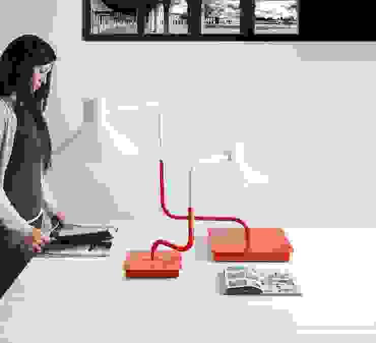 Lampe à poser, Sister, rouge, H46cm - LED - Zava par NEDGIS Industriel Fer / Acier