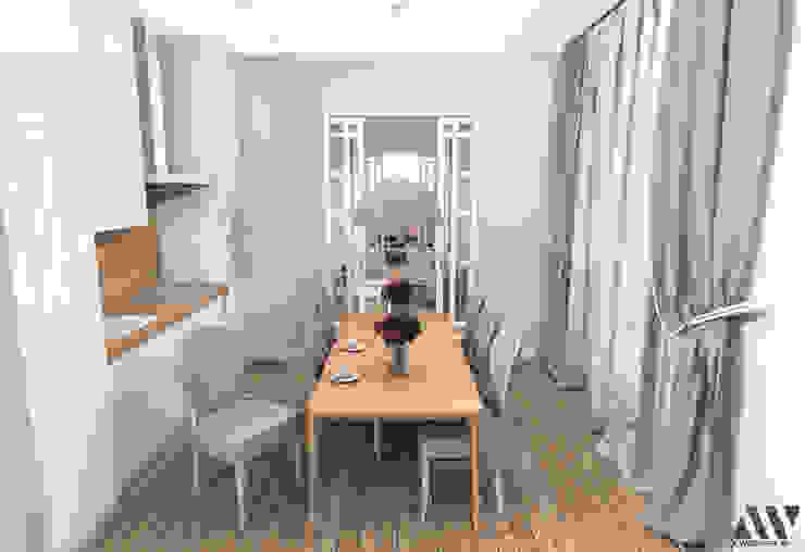 Квартира на Волжском проспекте Столовая комната в эклектичном стиле от A.workshop Эклектичный