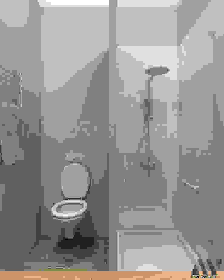 Квартира на Волжском проспекте Ванная комната в эклектичном стиле от A.workshop Эклектичный