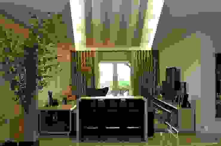 Residência Unifamiliar Entre-Ijuís -RS / Brasil Salas de estar modernas por Rockenbach Arquitetos Associados Moderno