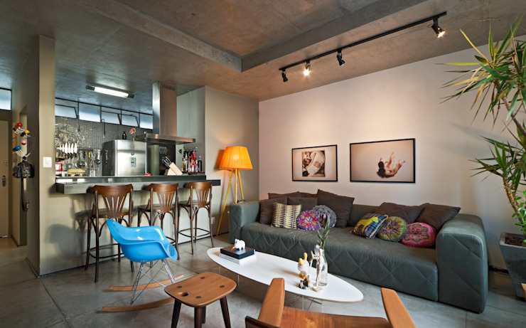 ห้องนั่งเล่น by Dubal Arquitetura e Design