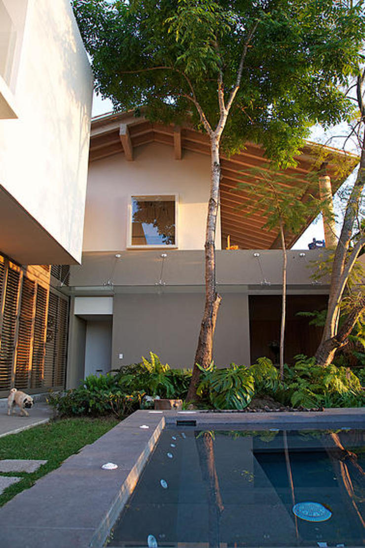 Mayúscula Arquitectos Eclectic style pool