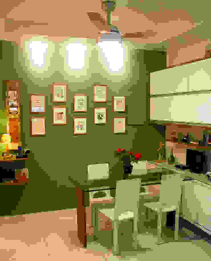 Copa/Cozinha Cozinhas tropicais por Atelier Espaço Santa Tropical