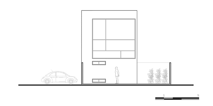 Fachada 2:  de estilo industrial por Proyecto Cafeina, Industrial