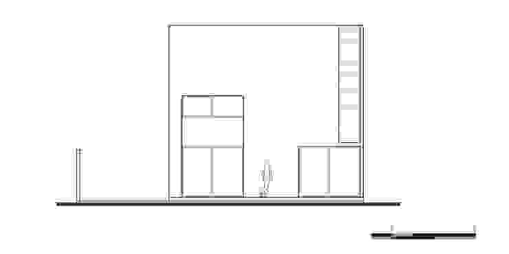 Fachada 3:  de estilo industrial por Proyecto Cafeina, Industrial