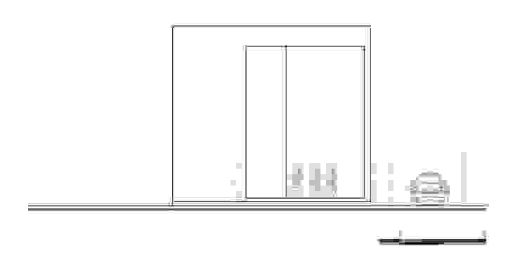 Fachada principal:  de estilo industrial por Proyecto Cafeina, Industrial