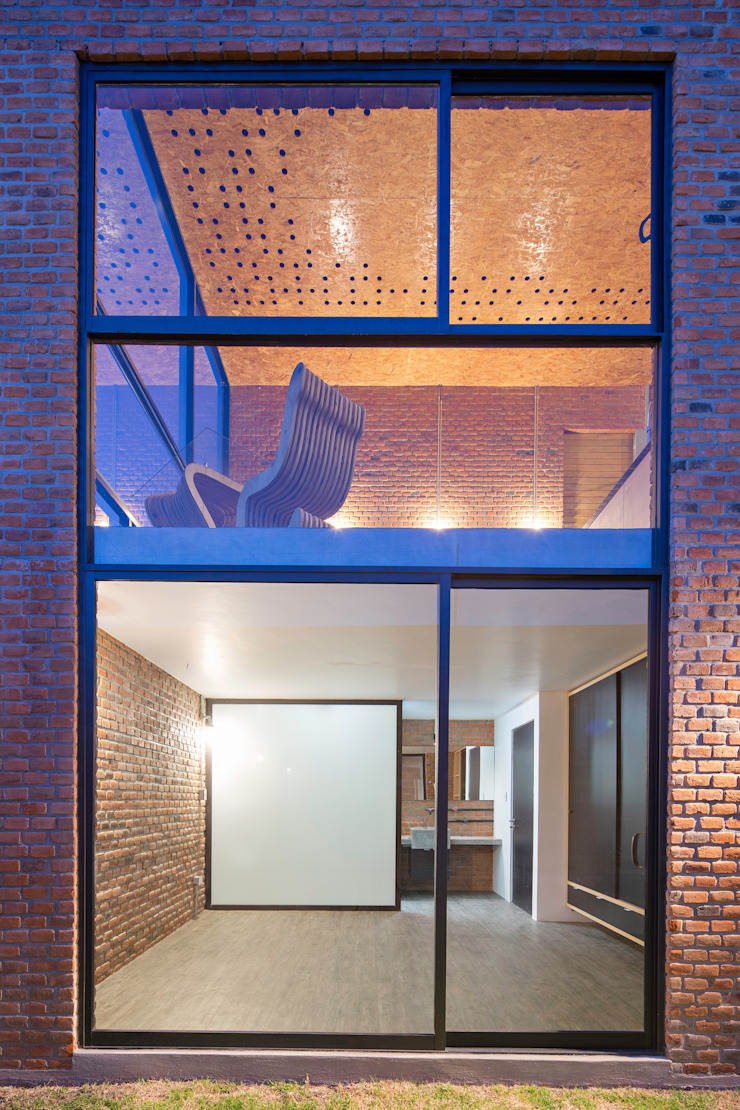 Sol 25_6 Casas industriales de Proyecto Cafeina Industrial Vidrio