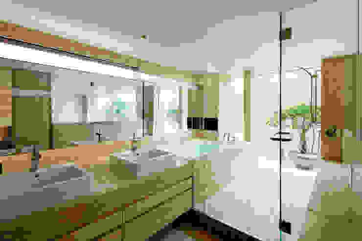 O邸 โดย 中塚健仁建築設計事務所 โมเดิร์น