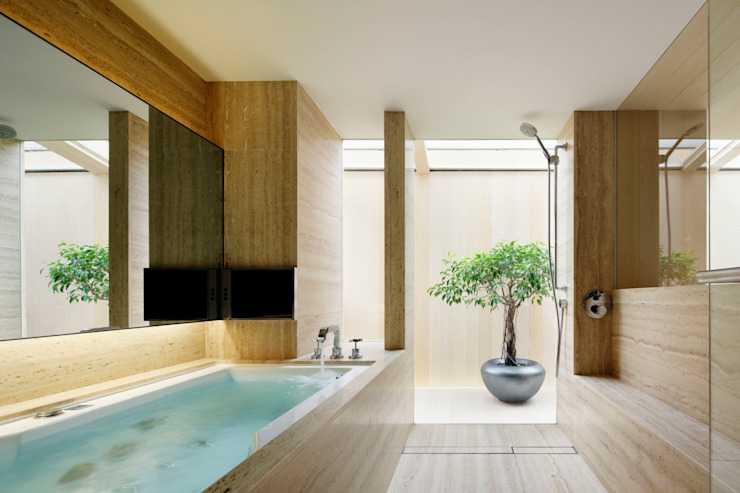 O邸 Modern Bathroom by 中塚健仁建築設計事務所 Modern