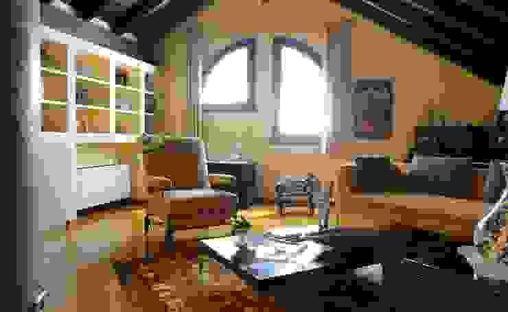 VILLETTA A CONCOREZZO Studio in stile mediterraneo di STUDIO SATTA Mediterraneo