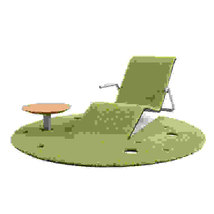 Rug Lounger: 藤村デザインスタジオ / FUJIMURA DESIGIN STUDIOが手掛けた現代のです。,モダン 合成繊維 ブラウン