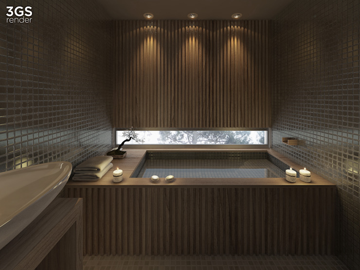 3GS render Modern style bathrooms