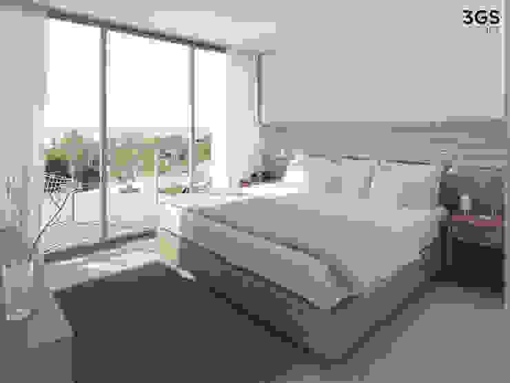 Dormitorios de estilo moderno de 3GS render Moderno