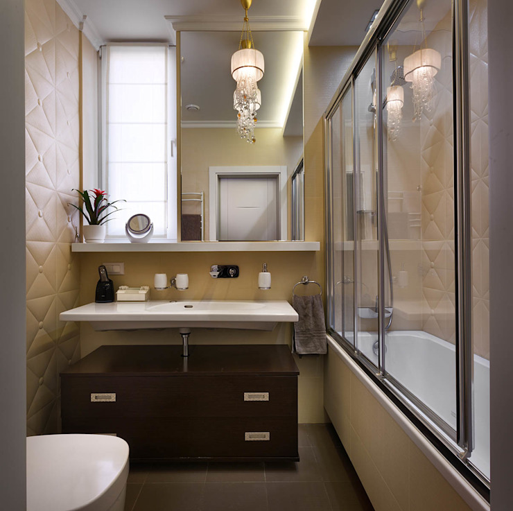 現代浴室設計點子、靈感&圖片 根據 U-Style design studio 現代風