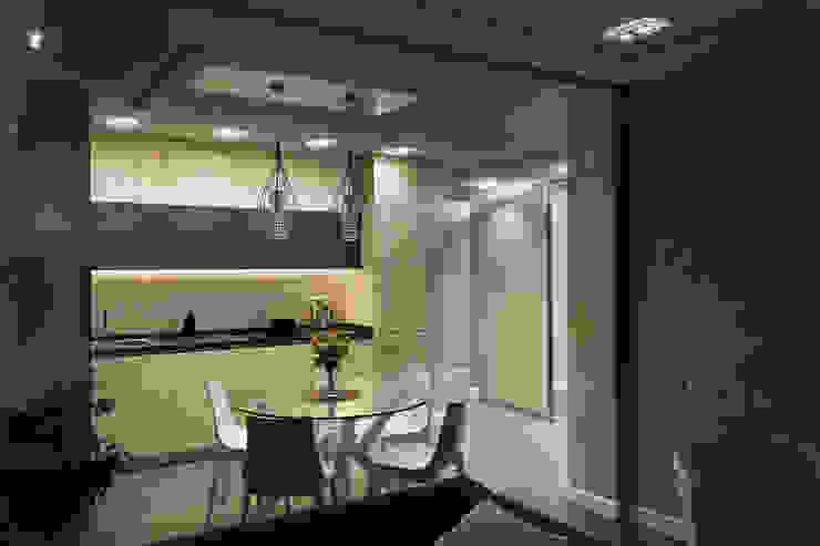 現代廚房設計點子、靈感&圖片 根據 U-Style design studio 現代風