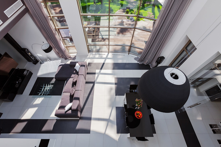 Плюты Гостиная в стиле модерн от U-Style design studio Модерн