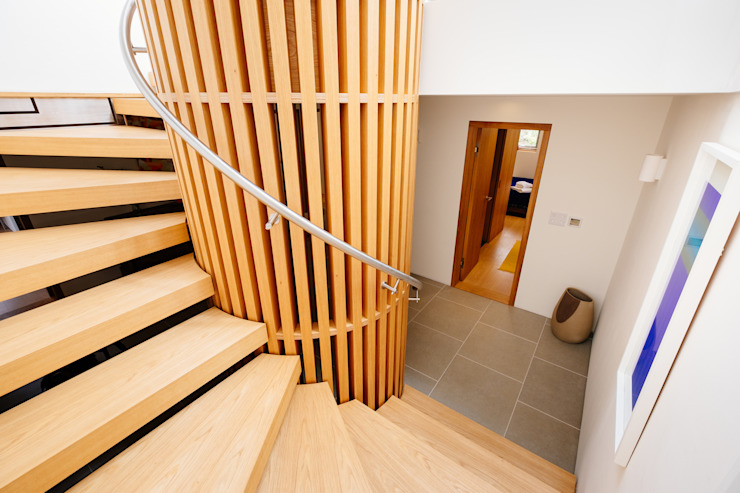 Gwel an Treth Perfect Stays Modern Corridor, Hallway and Staircase