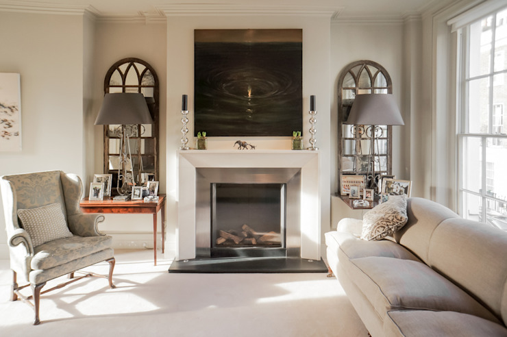 Living Room at the Chelsea House Klassieke woonkamers van Nash Baker Architects Ltd Klassiek