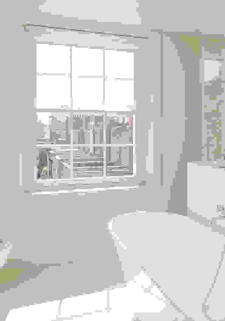 Bathroom at the Chelsea House Nash Baker Architects Ltd Modern bathroom White