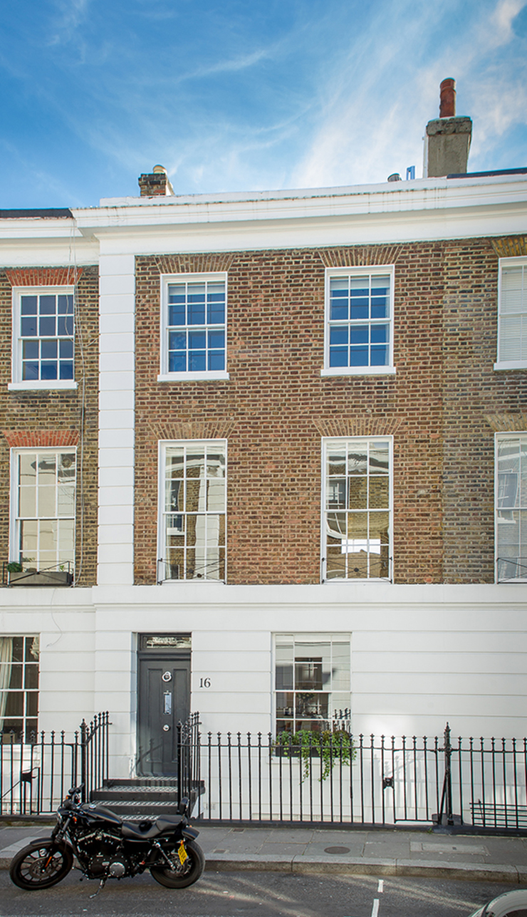 External view of The Chelsea House Nash Baker Architects Ltd Classic style houses Bricks