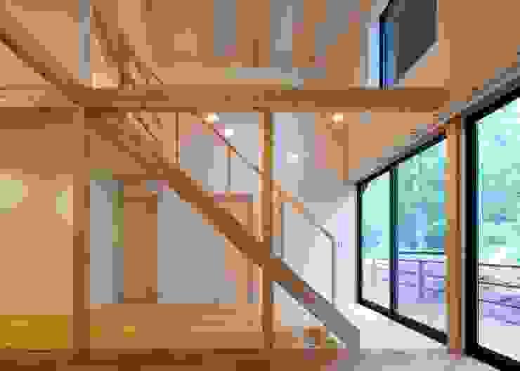 階段、通り土間 オリジナルスタイルの 玄関&廊下&階段 の Unico design一級建築士事務所 オリジナル