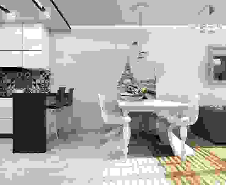 Paryż- elegancja Francja w jadalni Nowoczesna jadalnia od Architekt wnętrz Klaudia Pniak Nowoczesny