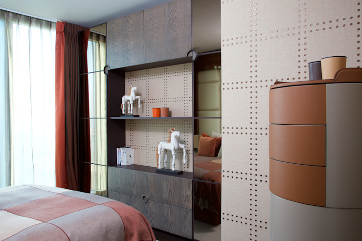 KT-77 Penthouse appartment Vauxhall Modern style bedroom by Keir Townsend Modern