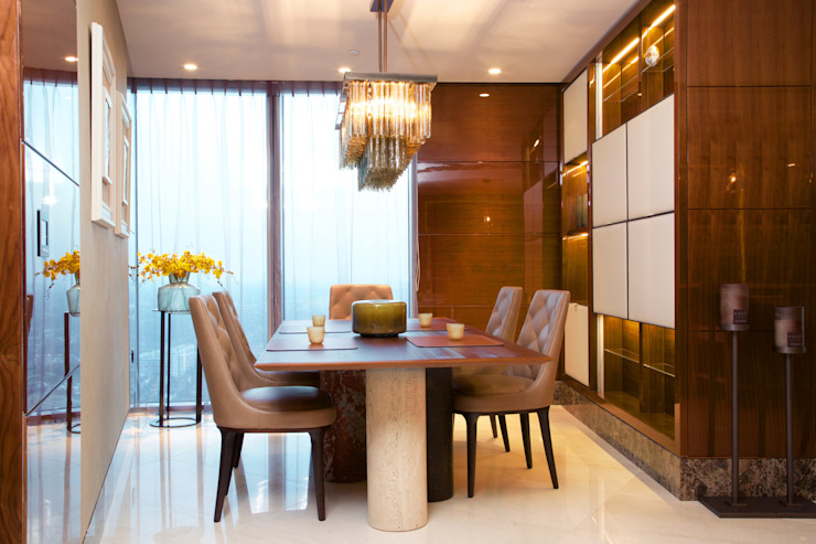 KT-77 Penthouse appartment Vauxhall 모던스타일 다이닝 룸 by Keir Townsend 모던