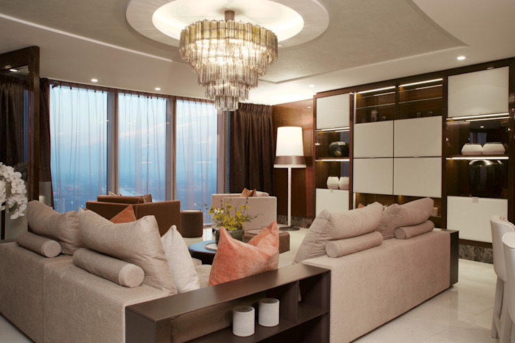 KT-77 Penthouse appartment Vauxhall Livings de estilo moderno de Keir Townsend Moderno