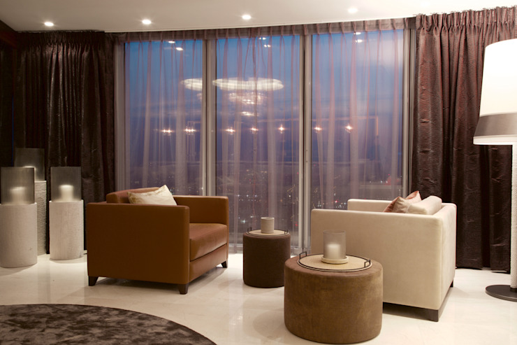 KT-77 Penthouse appartment Vauxhall Modern living room by Keir Townsend Modern