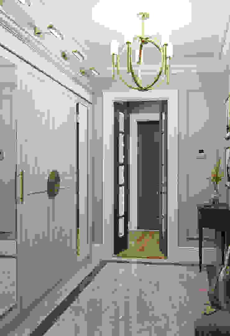 Квартира в ЖК Садовые Кварталы Коридор, прихожая и лестница в эклектичном стиле от MARION STUDIO Эклектичный