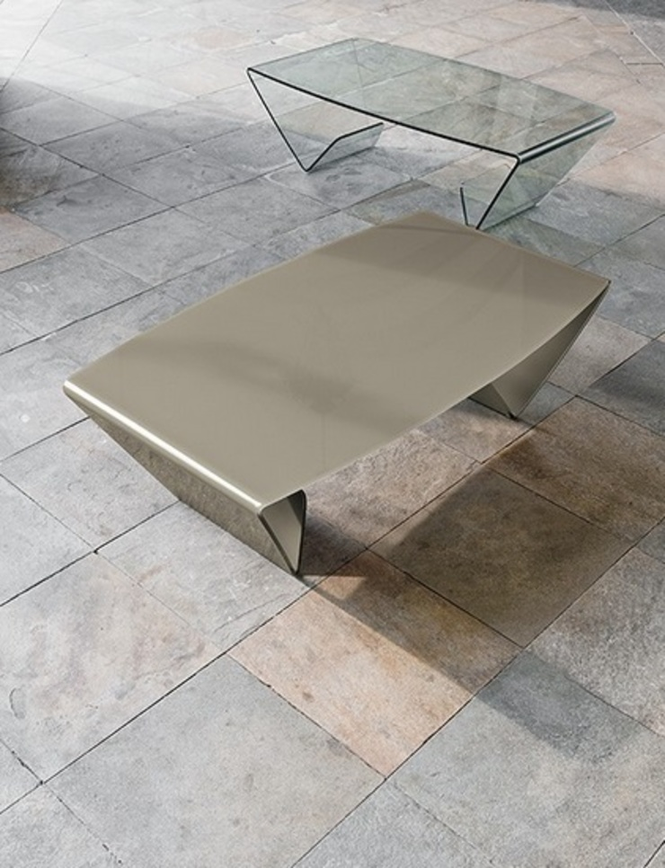 'Lyra' glass coffee table by Target Point de My Italian Living Moderno Vidrio